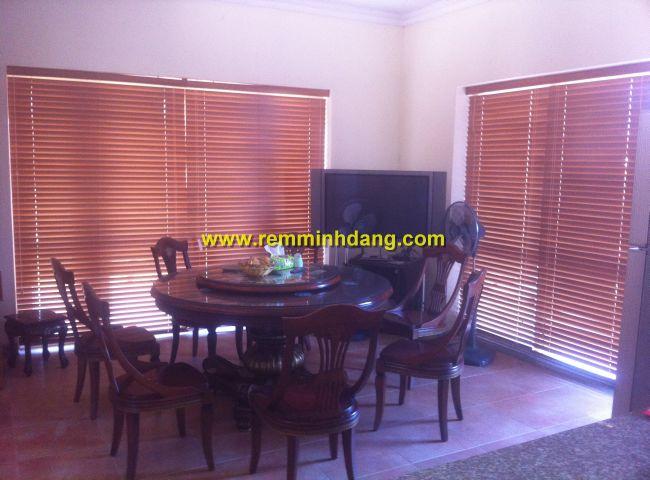 Rèm sáo gỗ lắp đặt nhà chị Nguyệt, Thành phố Thái Nguyên